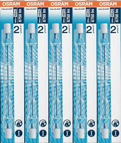 5 Stück Osram 64702 HALOLINE (400W) 230V R7s FS1 Gesamtlänge: 114,2 Halogen-HV-Lampe/Halogenstab