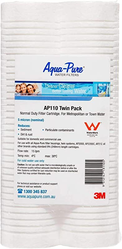 3M Aqua Pure Whole House Replacement Water Filter Model AP110 NP Pack Of 2