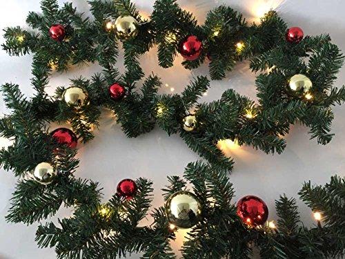 LD kerstversiering slinger kerstversiering 2,7 m 40 LED's kerstdecoratie (levertijd is 3-7 dagen)