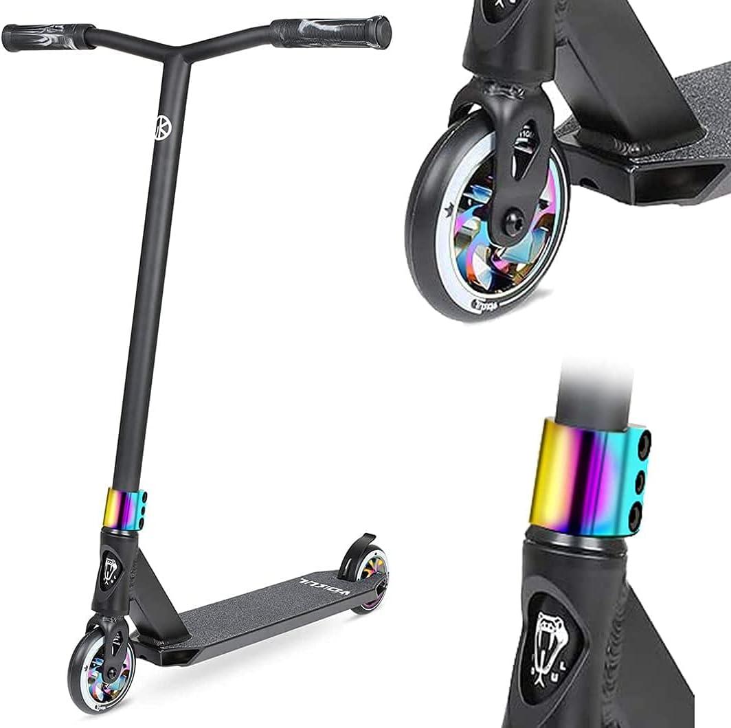 VOKUL BIZT K1 Pro Scooter – Patinetes de acrobacias para niños de 7 años en adelante, principiante a intermedio trucos scooter freestyle con ruedas de aleación de 110 mm