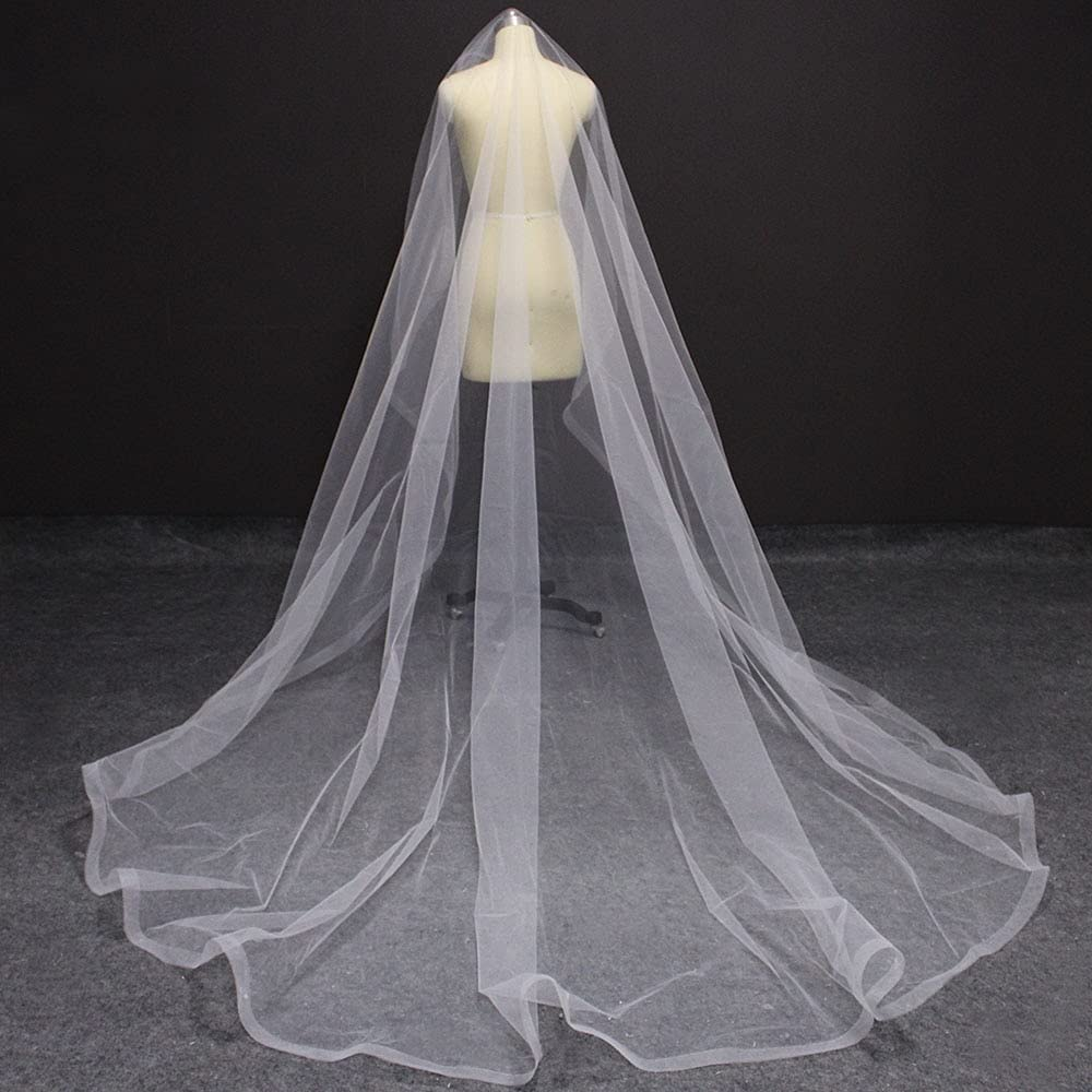 HUIJK Veil Long Horsehair Edge Meters Without Com 3 Ranking TOP18 67% OFF of fixed price Wedding