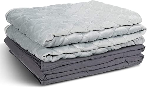 """Giantex Adult Weighted Blanket & Removable Duvet Cover