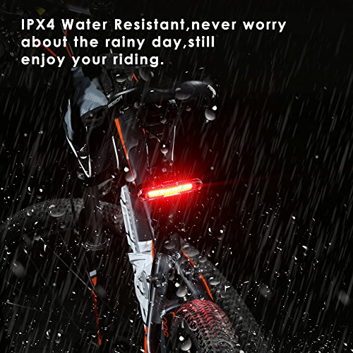 Bike Tail Light, Canway Ultra Bright Bike Light USB Rechargeable, LED Bicycle Rear Light, Waterproof Helmet Light, 5 Light Mode Headlights with Red & Blue for Cycling Safety Flashlight Light (Color-2)