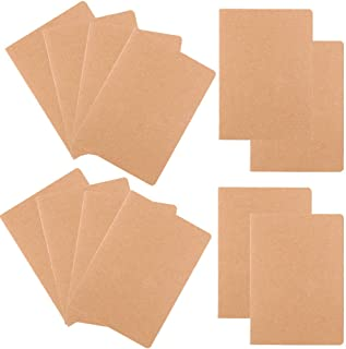 Z-Liant 12 Pack A5 Journals Diary Notebook Set : Kraft Brown Cover, 30 Sheets/60 Lined Pages.