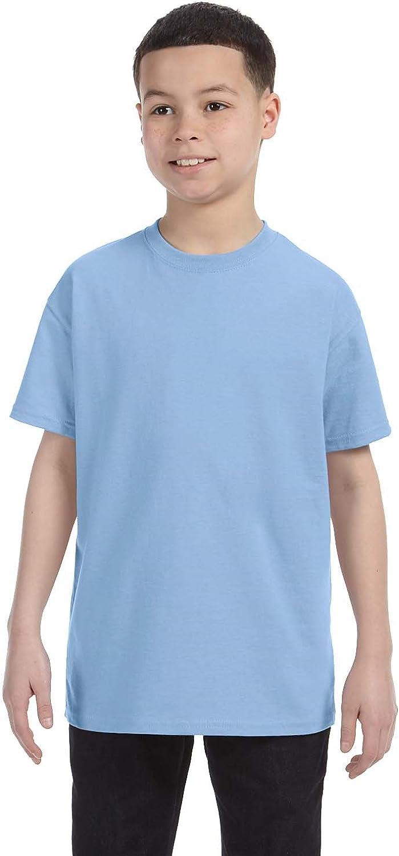 By Gildan Youth 53 Oz T-Shirt - Light Blue - M - (Style # G500B - Original Label)