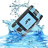 JTD Waterproof Floating Speaker, Armor Portable Bluetooth Speaker (Blue) 5W Strong Drive/Passive Radiator for Rich Immersive Sound, Waterproof Shockproof and Dustproof Outdoor with Power Supply