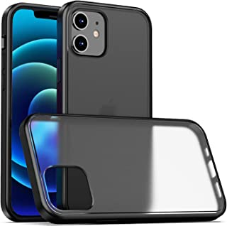 VWMYQ Translucent Matte Case Compatible with iPhone 12 Mini 5.4 Inch Anti-Fingerprint PC Back Shockproof TPU Soft Edge Bumper