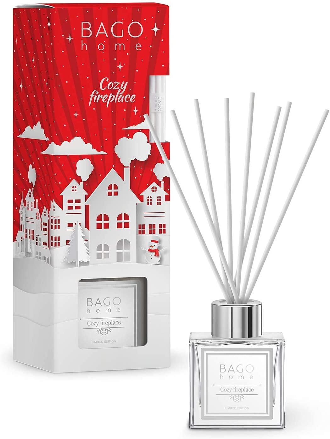 BAGO home Christmas Collection Oil Reed Cozy Award Fire Max 89% OFF Diffuser - Set