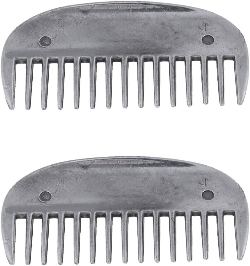 LoveinDIY 2pcs Fort Worth Mall Horse Metal Curry Comb F Ranking TOP20 Grooming Hair Brush Care