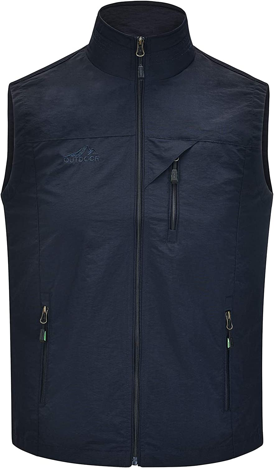 Spanye Men Lightweight Vest Outdoor Leisure Wi Pockets Max 72% OFF OFFicial shop with