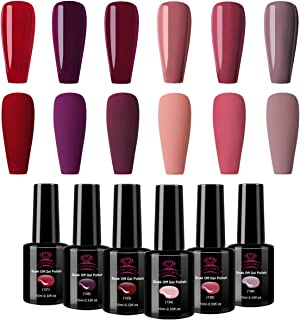 Makartt Red Gel Nail Polish Kit 10 ML 6 Bottles Perfect Goddess temperament Colors UV LED Lamp Required Soak Off UV gel nail polish Gift Box