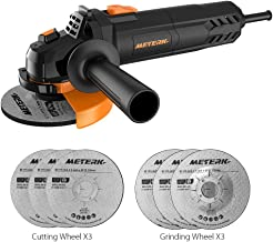 Electric Angle Grinder Meterk 6A 4-1/2inch with 115mm 3 Grinding Abrasive Wheels 3..