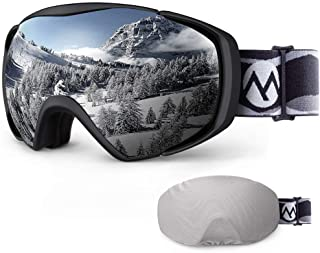 OutdoorMaster Ski Goggles with Cover Snowboard Snow Goggles OTG Anti-Fog for Men Women