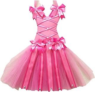 KANGMEI Girls Tutu Hair Bow Holder 22inch Bubblegum Pink Custom Hand Personalized