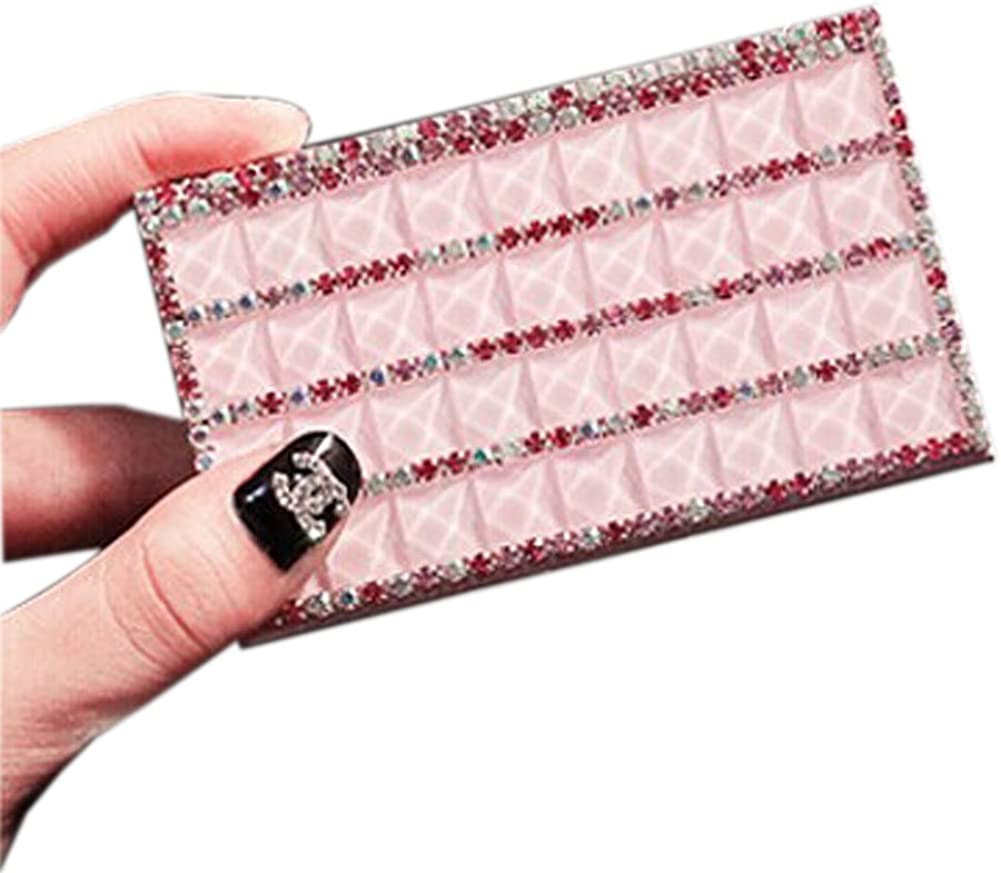 Shinning Pink Rhinestone Direct sale of manufacturer Business Japan's largest assortment 9.5x5.5cm Case Card