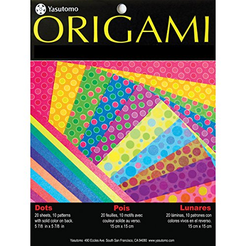 Yasutomo Fold 'EMS Origami Paper (20 Pack), 5.875', Dots with Pearlescent Colors