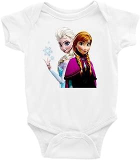 Anna and Elsa Frozen Short Sleeve Unisex Onesie