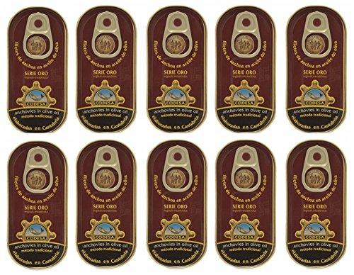Anchoas Codesa serie oro 48 gramos [PACK 10 UNIDADES]