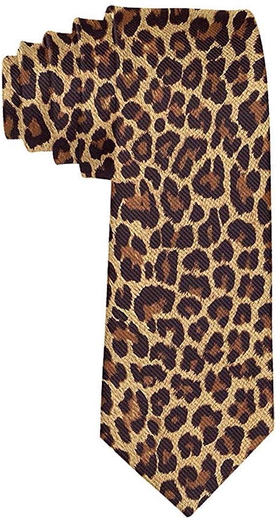 Fashion Cool Cheetah Leopard Necktie for Men, Casual Gentleman Necktie, Suit Ties