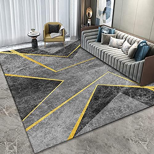 Alfombra De Estilo Moderno Dormitorio Simple Manta De Noche Tapete Fresco Lavable Grueso Antideslizante Adecuado para Hoteles Y Casas De Familia.