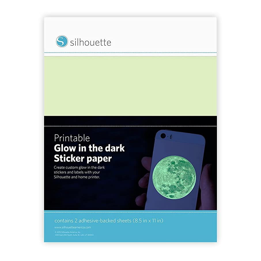 Silhouette of America Glow-in-The Dark Printable Sticker Paper (2 Pack), 8.5
