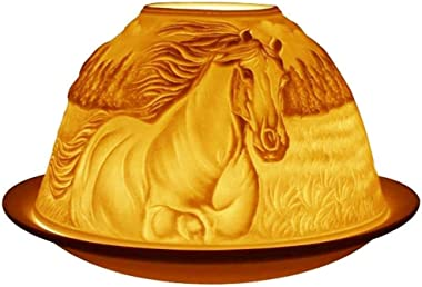 Welink Light-Glow Tealight Candle Holder, Horses