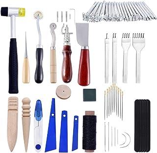 Kit de Gravure sur Cuir Ensemble De Couture à La Main Slotter Bâton d'impression Outils d'art en Cuir Ensemble D'outils en...