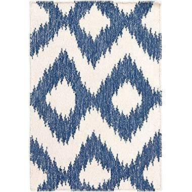 Surya Frontier FT-165 Flatweave Hand Woven 100% Wool Mediterranean Blue 8' x 11' Global Area Rug