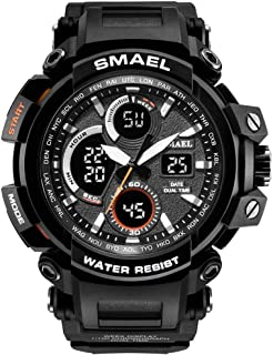 Men's Sport Watch, Dual Quartz Movement with Analog-Digital Display and EL Backlight Watch for Men