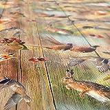 Wachstuchtischdecke abwaschbar Garten Tischdecke Wachstuch Rund Oval Eckig Indoor Outdoor Jagt Wild Jäger Motiv Holz 100x140cm - 9