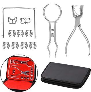 歯科ラバーダムキット、ラバーダム穿孔パンチャー、収納袋、1セットと歯のケアプライヤー矯正歯科材料、歯科ラボ機器、