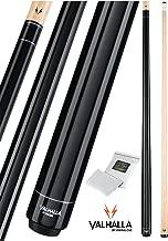Valhalla Viking 2 Piece Pool Cue Stick No Wrap 16-21 oz. PLUS Rosin Bag (Black VA101, 16 oz.)