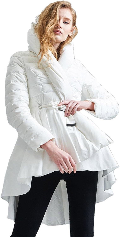 Jsix Women's Down Parka Coat Overcoat Hooded Jacket
