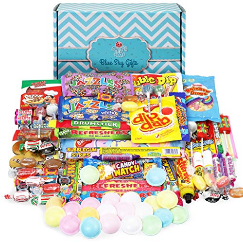 Retro Sweets Supersized Gift Box, Packed with The Best Old School Sweets, a Perfect Present in a Stylish Unique Gift Box Hamper.