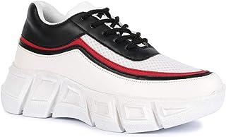 Vendoz Women Premium White Black Casual Shoes Sports Shoes Sneakers