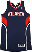 adidas Atlanta Hawks NBA Navy Blue NBA Authentic On-Court Team Issued Pro Cut Jersey Jersey for Men