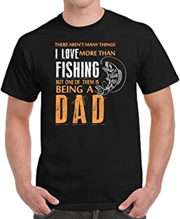 Fishing Dad Fathers Day Birthday Gifts I Love Fishing Men`s T-Shirt