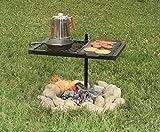 Texsport parrilla giratoria para asador, resistente, para asar barbacoa al aire libre sobre el fuego