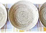3Pack Handwoven Mexican Natural Baskets Ideal for Tortillas, Snacks, Pancakes, Nachos & more. Great for a theme party, gift, home & kitchen - Tortillero para fiesta - Unique pieces of Art.