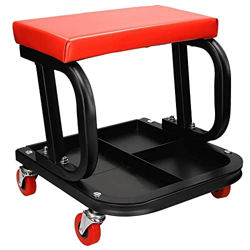 Mechanic Creeper Mobile Work Chair /& Stool Trolley Seat /& Drawers CT4346