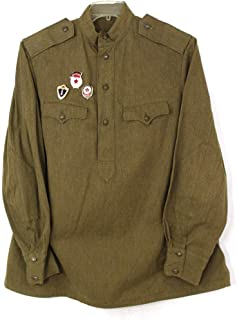 Soviet USSR Military ORIGINAL1969 Used Tunic Gymnasterka with Extra 12 Buttons. Olive