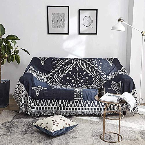 Funda de sofá Toalla de sofá Manta decorativa para sofá Funda de cama multifunción / Mantel / Mantón / Alfombra Funda de jacquard de punto de algodón Protectores de muebles para sillón nórdico Boho, D