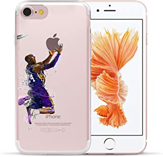 1 piece Soft TPU Gel NBA Star Basketball Kobe Jordan 23 James Case For Apple iPhone 8 6 6S 7 Plus 5 5S X SE XS Max XR Silicon Cover