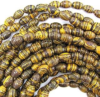 7x11mm Brown Rainbow calsilica Barrel beads 15.5'' Strand