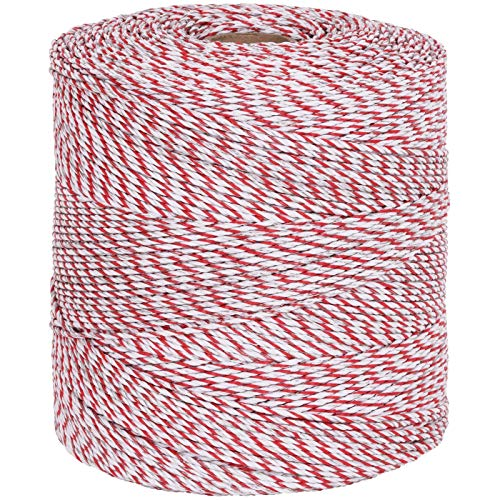 Weidezaun Litze 1000m, 1×0,25 Kupfer + 8×0,2 Niro, weiß-rot 4**** Weidezaunlitze - 2