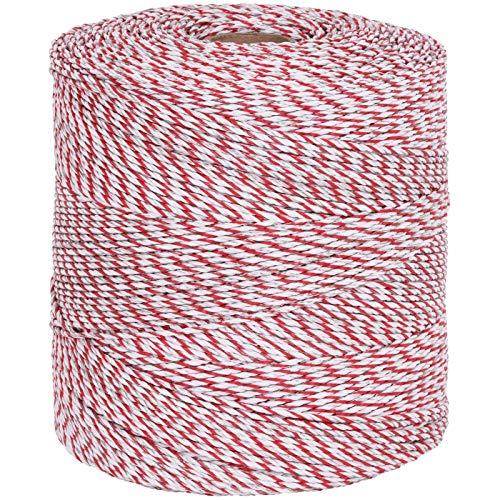 Weidezaun Litze 1000m, 1×0,25 Kupfer + 8×0,2 Niro, weiß-rot 4**** Weidezaunlitze - 3