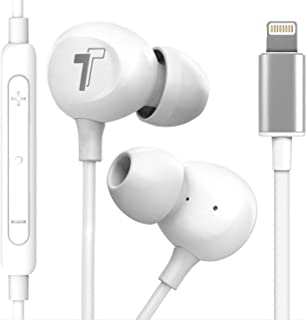 Thore iPhone 11/12 Pro Max Earphones (Apple MFi Certified) in Ear Wired Lightning Earbuds with Mic (V60) (for iPhone 7/8 P...
