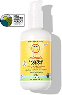 California Baby Everyday Lotion (8.5 Ounces) Moisturizer for Dry, Sensitive Skin | Post Bath and Diaper Changing | Non-Gre...
