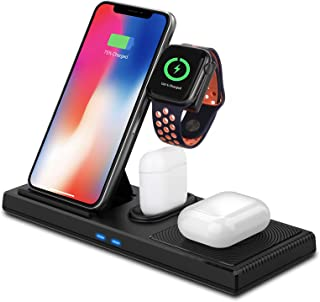 $28 » Sponsored Ad - Sendowtek Wireless Charger Station 4 in 1 Charging Station for Cell Phone Earbuds Pro 10W 7.5W Max Wireless...