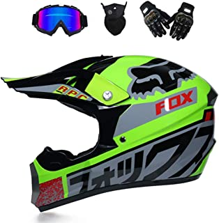 GNB Off Road Motocross Casque Moto Dirt Bike//MX//ATV//Dot//ECE Scooter Mountain Moto Quad Motocross Enduro Sport Casque//Gants//Lunettes//Masque Style 7